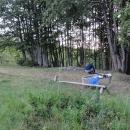 Malé tábořiště hned vedle buky porostlé stráně – zde je hranice lesa posunuta výš než u nás.