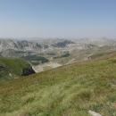 Výhledy jsou fantastické – část Zelengory, kterou jsme prošli včera...
