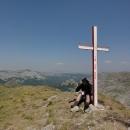 Luděk na 2014 metrů vysokém Bregoči