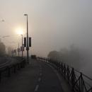 Praha je zavalena hustou mlhou