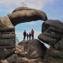 Kamenná brána s krásnou vyhlídkou k severu