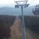 A pak nás již lanovka pohodlně veze na 1.299 metrů vysokou Černou horu