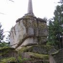 Vysoký kámen (738 m.n.m.) je nejvyšším bodem tzv. Novobystřické vrchoviny