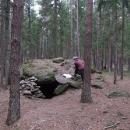 Ve zdejších hlubokých lesích se schovával Grasel, zde je jeho sluj