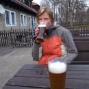 Podvečerní pivo pod Landštejnem