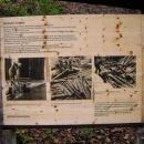 Plavení dřeva dokumentuje informační tabule (škoda, že jen německy)