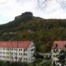 Lilienstein - vyhlídková skála nad Labem