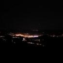 Ještě večer šlapeme na vrchol Děčínského Sněžníku (723 m.n.m.)