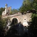 Zřícenina kostela Sv.Apoleny v lesích u Přimdy