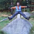 Napůl v Čechách, napůl v Německu – Křížový kámen