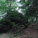 Tam nahoře stával minihrádek Šelmberk