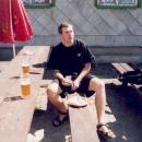 Chodské koláče a pivo jsou zaslouženou odměnou po náročném výšlapu (kopec nejmíň 20% - uf!)