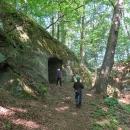 Odbočili jsme na zříceninu hradu Hynšta