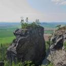 Zřícenina hradu Klamorna - vyhlídka