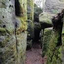 Skalní bludiště v Besedických skalách