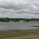 Po povodních nejsou všechny přívozy v provozu, tento ale naštěstí je.