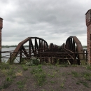 Jde o železniční most z roku 1873, který byl na konci druhé světové války vyhozen do povětří.