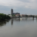 Pohled na Magdeburg od řeky