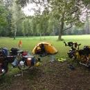 Poslední nocleh v přírodním parku Peliny za Chocní hned u Tiché Orlice