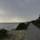 Krásné jsou zejména úseky kolem Kužnice, kdy se jede těsně u moře.