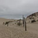 Na duně je vyznačená cesta směrem k pobřeží