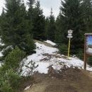 Konečně sedlo Vráca (1422), zbývá posledních necelých 200 metrů