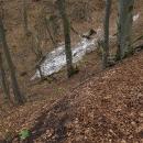 Kolem 950 metrů se objevily zbytky sněhu (první a poslední na této trase)