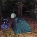 Nocleh v Plitvickém národním parku - k dispozici byla lednička a pračka :-)