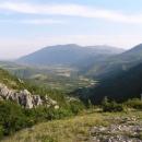 Tento výhled do údolí Zrmanje mi zpříjemňoval nocleh