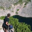 Já na vyhlídce na Plavo jezero u Imotského (hloubka vody přes 90m)