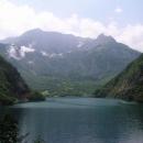 Pohraniční hory s Bosnou nad Pivskou přehradou