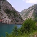 Hráz Pivské přehrady (tato fotka už je ilegální - byl zde zákaz focení)