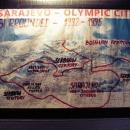V muzeu sarajevského tunelu - mapka tehdejšího obklíčení města
