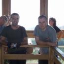 Pavel a Luděk (zleva) na rozhledně Brdo