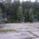 Cestou jsme viděli pár starých těžebních strojů ...