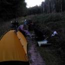 Ve Ždánickém lese jsme tábořili na zvířecí stezce :-)