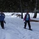Markéta poprvé na sněžnicích