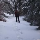 Ale nakonec zas odbočujeme do sněhové divočiny