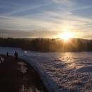 Západ slunce nad Novohradskými horami