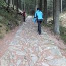 Do hor stoupáme po kameny vykládaných cestách