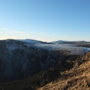 Studniční hora a Luční bouda je ze Sněžky jak na dlani