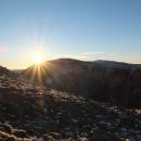 Západ slunce nad Studniční horou