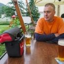 Poslední Holba v hanušovickém pivovaru, doprovázel nás švagr Fanda...