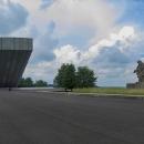 A pak už jsme osaměli. Cesta vedla na Hrabyni, kde je obrovský památník Ostravsko-karvinské operace.