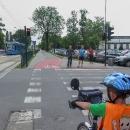 Příjezd do Krakova. Město je protkané cyklostezkami.