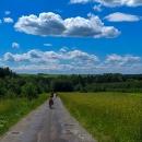 Krajinka příjemně zvlněná a dohled až k Tatrám