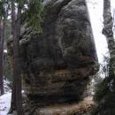 Skalní útvary na Příhrazských skalách