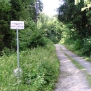 Cyklostezka vede vojenským prostorem Dědice.