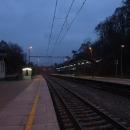 Večerní nádraží v Senohrabech