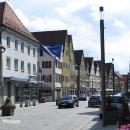 Město Mengen, hlavní silnice často vede centrem jinak pěkných městeček